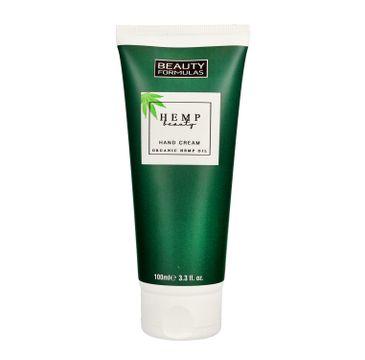 Beauty Formulas Hemp Beauty - krem do rąk nawilżająco-odżywczy (100 ml)