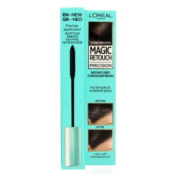 L'oreal Magic Retouch Precision - szczoteczka do retuszu odrostów ciemny brąz (8 ml)