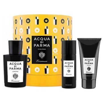 Acqua di Parma – Colonia Essenza zestaw woda kolońska 100ml + żel pod prysznic 75ml + dezodorant spray 50ml (1 szt.)