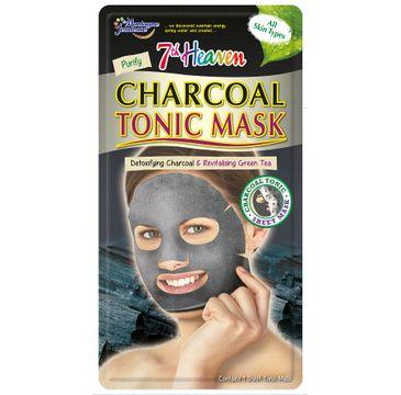 7th Heaven – Charcoal Tonic Mask oczyszczająca maseczka węglowa w płachcie do każdego typu cery (1 szt.)