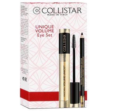 Collistar Unique Volume Eye Set (zestaw Mascara Volume Unico tusz do rzęs Black 13 ml + Eye Pencil kredka do oczu Black)