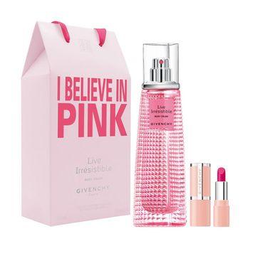 Givenchy – Live Irresistible Rosy Crush zestaw woda perfumowana spray 50ml + Le Rose Perfecto pomadka do ust (1 szt.)