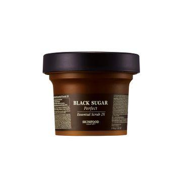 Skinfood Black Sugar – Perfect Essential Scrub 2X peeling do twarzy z nierafinowanym cukrem trzcinowym (210 g)