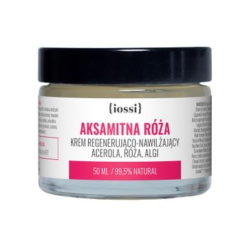 iossi – Aksamitna Róża krem regenerująco-nawilżający do twarzy acerola & róża & algi (50 ml)