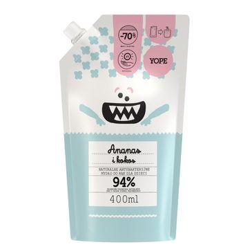 Yope – antybakteryjne mydło do rąk dla dzieci Ananas i Kokos (400 ml)