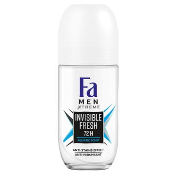 Fa Men Xtreme - dezodorant roll-on Invisible Fresh (50 ml)