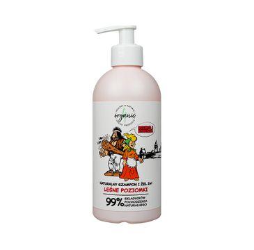 4organic Kajko i Kokosz naturalny szampon i żel do mycia dla dzieci 2w1 Leśne Poziomki (350 ml)