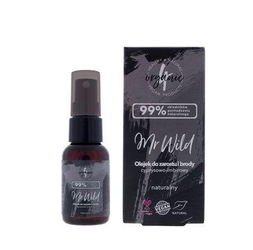4organic Mr Wild olejek do zarostu i brody cyprysowo-imbirowy (30 ml)
