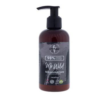 4organic Mr Wild żel do mycia brody i twarzy cyprysowo-imbirowy (200 ml)