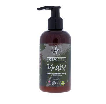 4organic Mr Wild żel do mycia brody i twarzy korzenno-cytrusowy (200 ml)