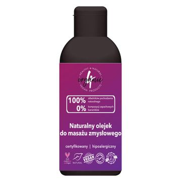 4organic Naturalny olejek do masażu zmysłowego (100 ml)