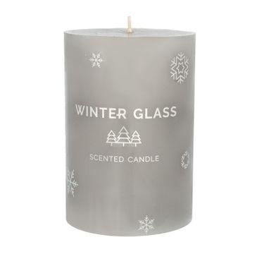 Artman – Boże Narodzenie Świeca zapachowa Winter Glass szara - walec średni (1 szt.)