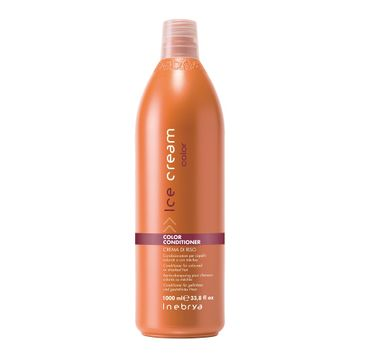 Inebrya Ice Cream Color Conditioner – odżywka do włosów farbowanych (1000 ml)