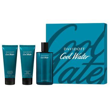 Davidoff – Cool Water Men zestaw woda toaletowa spray 125ml + balsam po goleniu 75ml + żel pod prysznic 75ml (1 szt.)