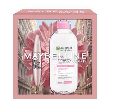 Maybelline – Zestaw Lash Sensational Full Fan Effect Mascara tusz do rzęs Black 9.5ml + Garnier Skin Naturals płyn micelarny 3w1 400ml (1 szt.)