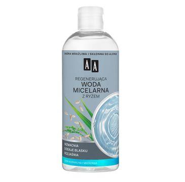 AA Skin Food – regenerująca woda micelarna z ryżem do cery normalnej i mieszanej (400 ml)
