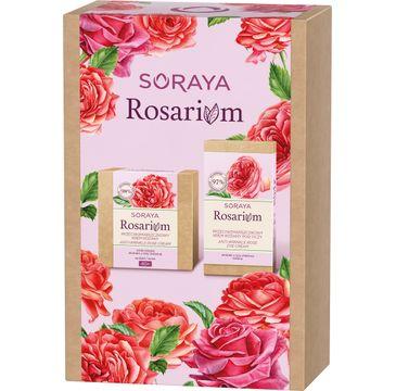 Soraya – Rosarium zestaw przeciwzmarszczkowy krem różany 40+ na dzień/na noc 50ml + przeciwzmarszczkowy krem różany pod oczy 15ml (1 szt.)