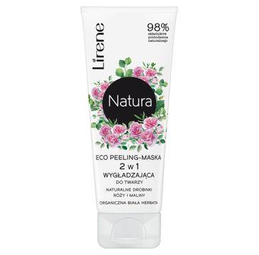 Lirene – Natura Eco peeling-maska 2w1 wygładzająca do twarzy Organiczna Biała Herbata (75 ml)
