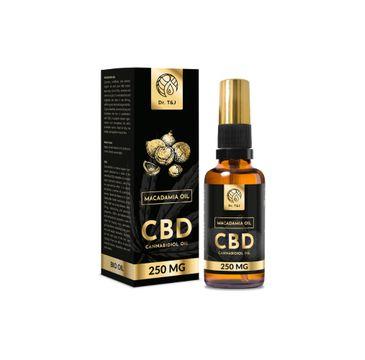 Dr. T&J Makadamia Oil naturalny olej makadamia BIO + CBD 250 MG (50 ml)