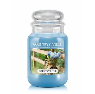 Country Candle – świeca zapachowa z dwoma knotami Country Love (652 g)