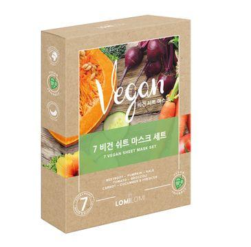 Lomi Lomi 7 Vegan Sheet Mask Set – zestaw wegańskich maseczek w płachcie (7 szt.)