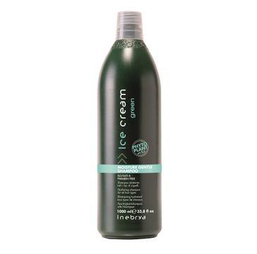 Inebrya Ice Cream Green Moisture Gentle Shampoo – nawilżający szampon do wszystkich rodzajów włosów (1000 ml)
