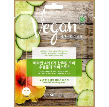 Lomi Lomi Vegan Sheet Mask – wegańska maseczka w płachcie Ogórek i Hibiskus (20 ml)