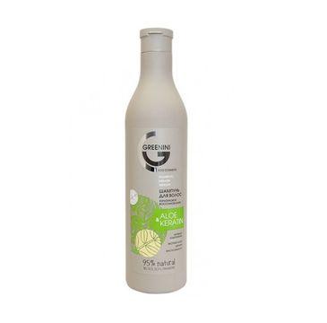 Greenini  – Aloe & Keratin Shampoo odbudowujący szampon do włosów Aloes i Keratyna (500 ml)