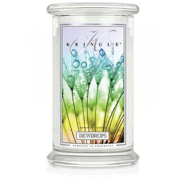 Kringle Candle – świeca zapachowa z dwoma knotami Dewdrops (623 g)