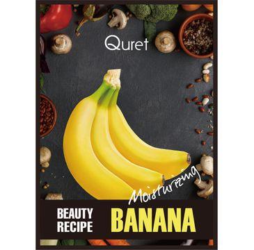 Quret – Beauty Recipe Mask Moisturizing nawilżająca maska w płachcie Banan (25 g)