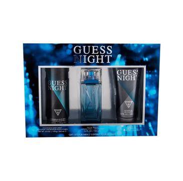 Guess Night For Men – zestaw woda toaletowa (100 ml) + żel pod prysznic (200 ml) + dezodorant spray (226 ml)