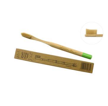 Mohani Bambusowa zielona szczoteczka do zębów Soft