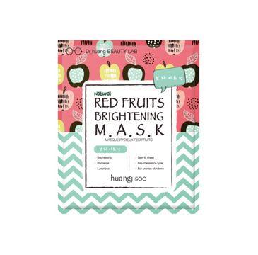 Huangjisoo Red Fruits Brightening Sheet Mask – rozjaśniająco-rozświetlająca maska do twarzy w płachcie Czerwone Owoce (1 szt.)