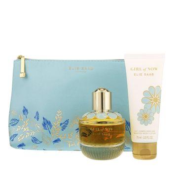 Elie Saab Girl Of Now – zestaw woda perfumowana spray (50 ml) + balsam do ciała (75 ml) + kosmetyczka