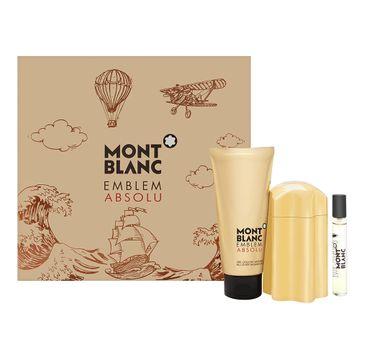 Mont Blanc Emblem Absolu For Men – zestaw woda toaletowa spray (100 ml) + miniatura wody toaletowej (7.5 ml) + żel pod prysznic (100 ml)