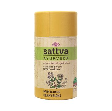 Sattva Natural Herbal Dye for Hair naturalna ziołowa farba do włosów Dark Blonde 150g