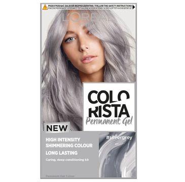 L'Oreal Paris Colorista Premament Gel – farba do włosów  #silvergrey (1 szt.)