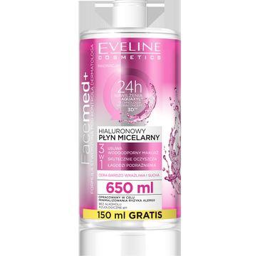 Eveline Facemed – hialuronowy płyn micelarny 3w1 (650 ml)