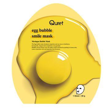 Quret – Egg Bubble Smile Mask oczyszczająca maska bąbelkowa w płachcie (28 g)