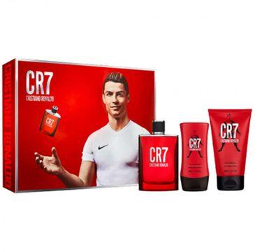 Cristiano Ronaldo – CR7 zestaw woda toaletowa spray 100ml + żel pod prysznic 150ml + balsam po goleniu 100ml (1 szt.)
