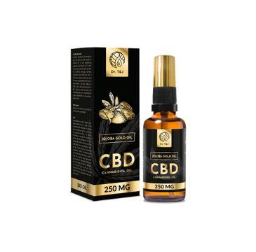 Dr. T&J Jojoba Gold Oil naturalny olej jojoba BIO + CBD 250 MG (50 ml)