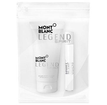 Mont Blanc Legend Spirit Pour Homme – zestaw miniatura wody toaletowej (7.5 ml) + balsam po goleniu (50 ml) + kosmetyczka