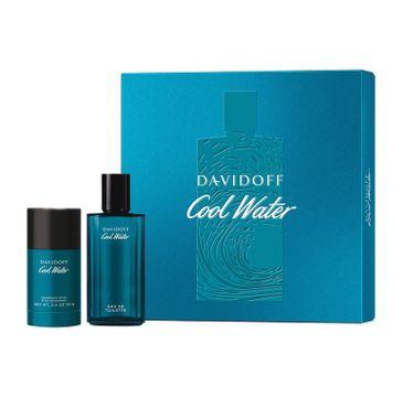 Davidoff Cool Water Man (zestaw woda toaletowa spray 75 ml + dezodorant sztyft 75 ml)