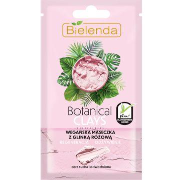 Bielenda Botanical Clays z glinką różową (wegańska maseczka do twarzy 8 g)