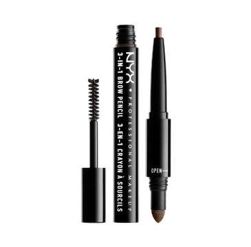 NYX Professional MakeUp 3in1 Brow Pencil wielofunkcyjny produkt do makijażu brwi 08 Ash Brown