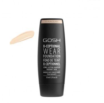 Gosh X-Ceptional Wear Foundation Long Lasting Makeup (długotrwały podkład do twarzy 11 Porcelain 35 ml)