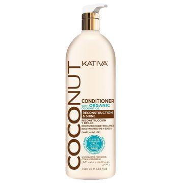 Kativa Coconut Conditioner kokosowa odżywka do włosów odbudowująca i nadająca połysku 1000ml