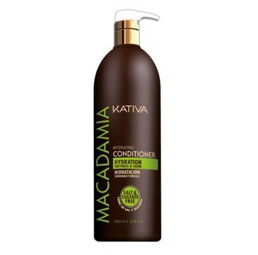 Kativa Macadamia Hydrating Conditioner nawilżająca odżywka do włosów 1000ml