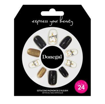 Donegal – Sztuczne paznokcie 3056 z klejem (24 szt.)