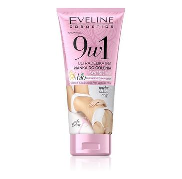 Eveline  Cosmetics 9w1 Sensitive Ultradelikatna pianka do golenia do skóry bardzo wrażliwej (175 ml)